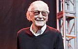 Stan Lee is seen onstage at Los Angeles Comic-Con at the Los Angeles Convention Center, Oct. 28, 2017. (JTA)