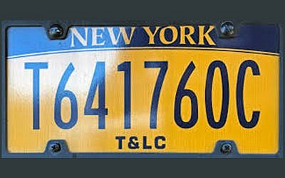 Illustrative photo of a DMV New York license plate. Wikimedia Commons