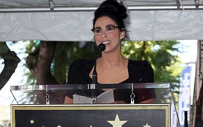 Sarah Silverman speaks after being honored with a star on the Hollywood Walk of Fame, Nov. 9, 2018. JTA