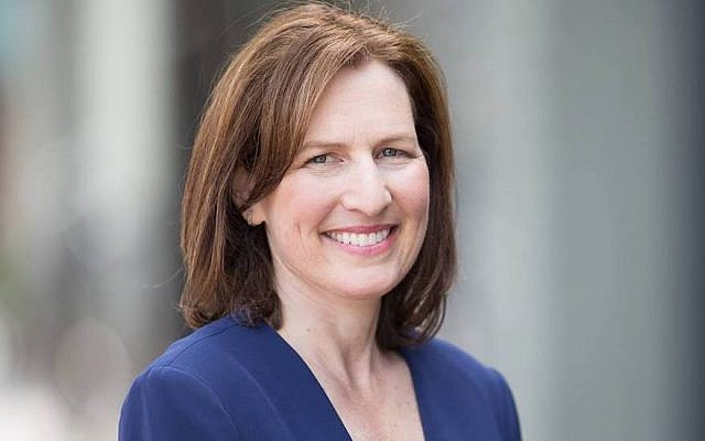 Kim Schrier was one of several Jewish candidates targeted by ads picturing them holding wads of cash. (JTA)