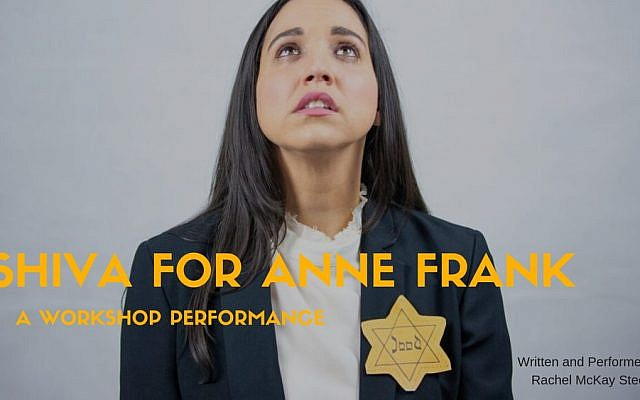 """Rachel McKay Steele's solo show, """"Shiva For Anne Frank,"""" mines the world's most famous diary for laughs. Courtesy"""