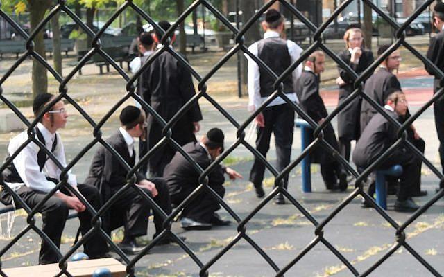 Students at a Brooklyn yeshiva. Michael Datikash/JW