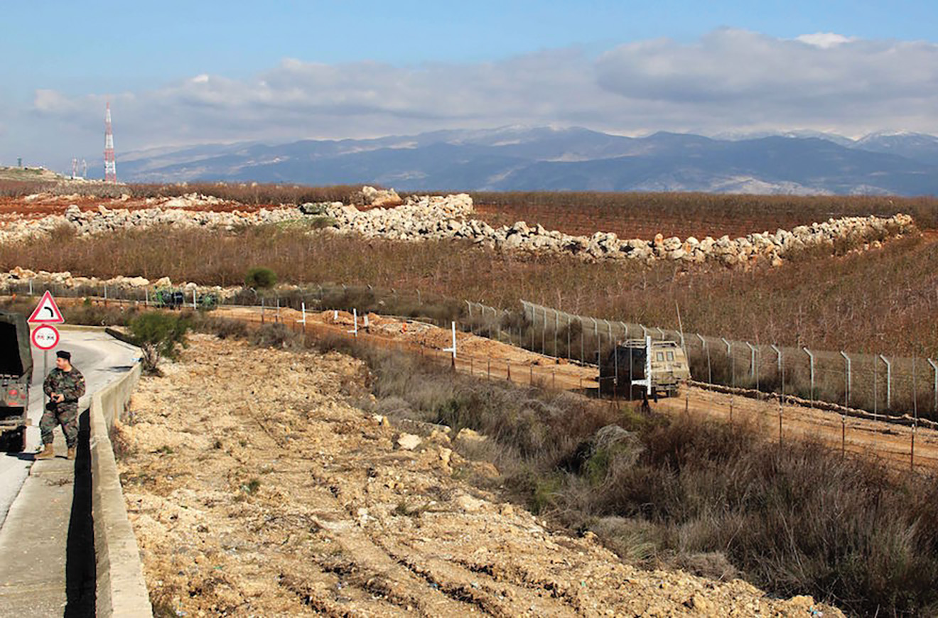 A view of the border between Lebanon, left, and Israel near the village of Kfar Kila.  Ali Dia/AFP/Getty Images