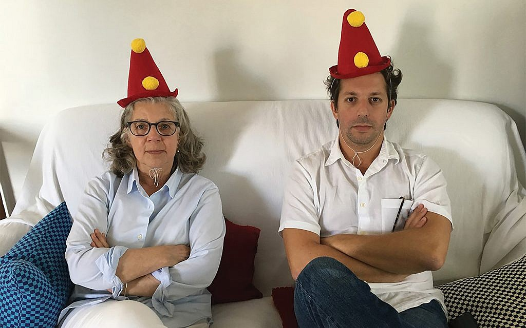 """Maira and Alex Kalman, mad hatters: Their playful, folkloric paintings and collages animate """"Sara Berman's Closet."""" Judith Richland"""