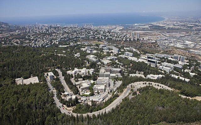 Aerial view of the Technion-Israel Institute of Technology campus in Haifa, Israel.