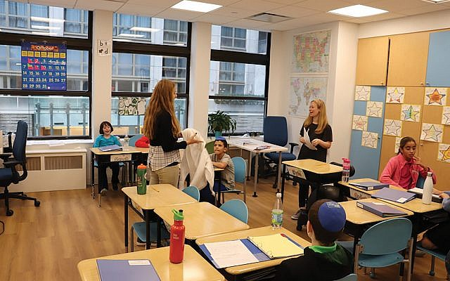 Students last month at the Shefa school in Manhattan, where classrooms have a high teacher-student ratio. Photos by Ben Sales