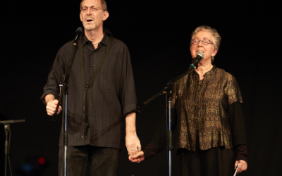 """Yiddish singer and multi-instrumentalist Michael Alpert and Ethel Raim, who was named an NEA National Heritage Fellow for """"major contributions"""" to """"folk and traditional arts."""" Courtesy of Janina Wurbs"""