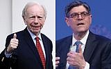 Former Sen. Joe Lieberman, left, and former Treasury Secretary Jack Lew. Getty Images