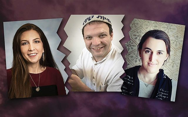 Shoshanna Schechter, Rabbi Jeremy Sher and Sarah Ruth Hoffman. Their ordeals with ethics committees in the Conservative, Reconstructing Judaism and Reform movements left them reeling. JW Photo Illustration