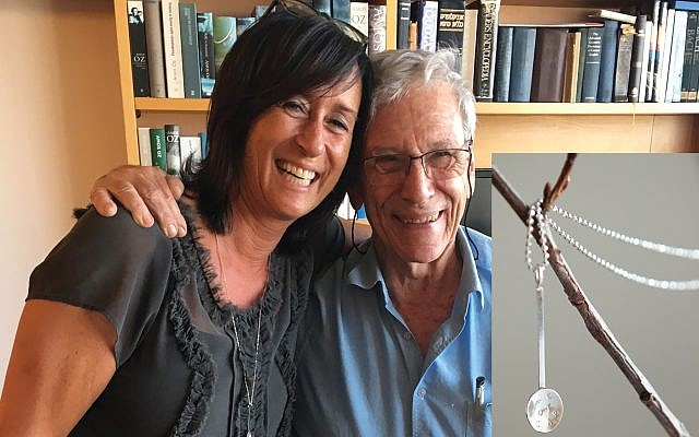A spoonful of empathy: Camilla Nagler and Amos Oz. Courtesy of Camilla Nagler
