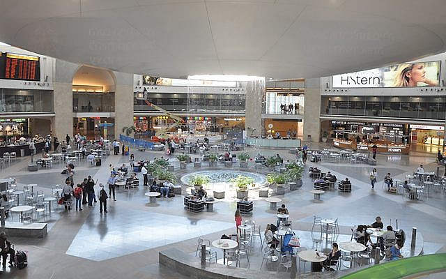 Ben Gurion Airport, site of the detentions. JTA / Wikimedia Commons