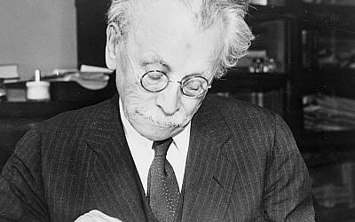 Abraham Cahan, one of the founders of the Forward, in 1936.  Wikimedia Commons