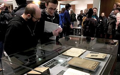 Some 450 people attended a Jan. 20 conference at the YIVO Institute for Jewish Research in New York on the history of Yiddish anarchism. JTA Photo