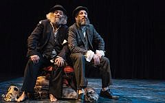 "David Mandelbaum and Eli Rosen in New Yiddish Rep's production of ""Vartn Af Godot."" Dina Raketa"