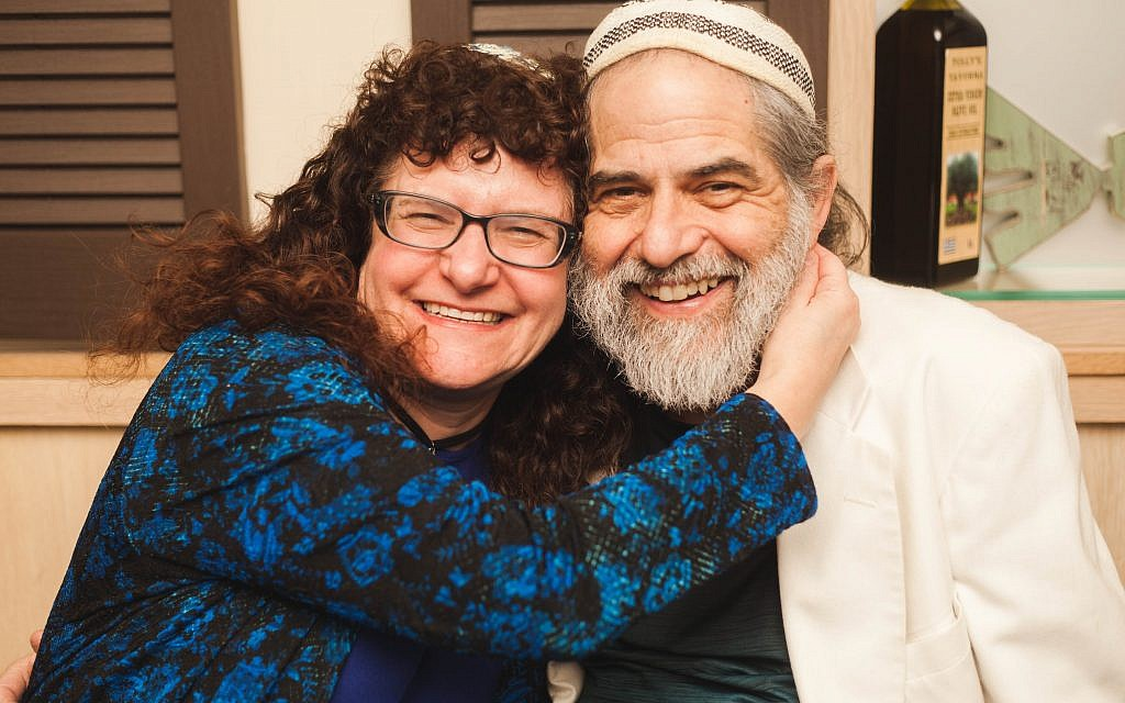 Akiva and Lisa: The couple met in 2001 when Akiva was a guest percussionist at North Shore Synagogue in Syosset, New York, where Lisa was a congregant. Courtesy of Aliya Rose Waldman