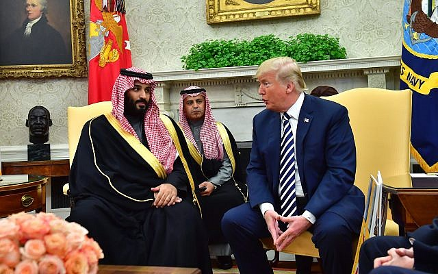 President Donald Trump meets Crown Prince Mohammed bin Salman of the Kingdom of Saudi Arabia in the Oval Office at the White House on March 20, 2018 in Washington, D.C. Getty Images