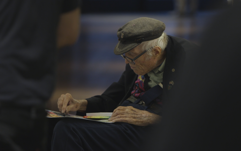 Nonagenarian Artist Nathan Hilu At Work Courtesy Of Elan Golod