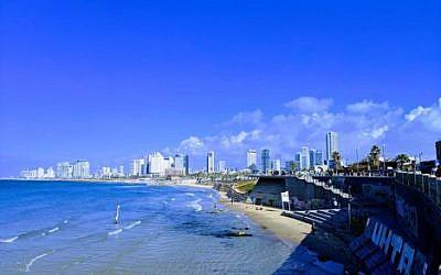 Illustrative photo of the Tel Aviv beach from the Jaffa Port. Courtesy of Jeremy Bernstein.