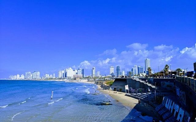 Illustrative photo of the Tel Aviv beach from the Jaffa Port. Courtesy of Jeremy Bernstein.