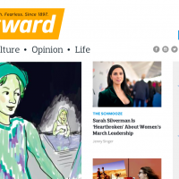 The Forward's Website. Screenshot