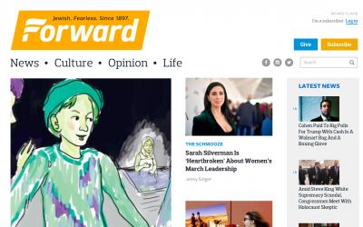 The Forward's Website. Screenshot