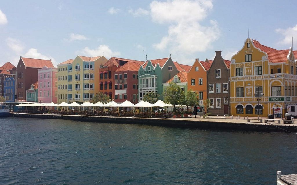 Pastel-colored buildings in Willemstad, the capital. Photo courtesy New York Jewish Travel Guide