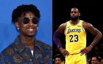 21 Savage (left) and LeBron James (right). Getty Images