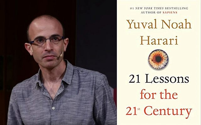 "Historian and author, Yuval Noah Harari and his latest book, ""21 Lessons For The 21st Century And Beyond."" Youtube/ Penguin Random House"