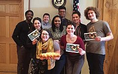 Activists with IfNotNow visited Rep. Omar's district office in Minnesota. Courtesy of Leah Soule.