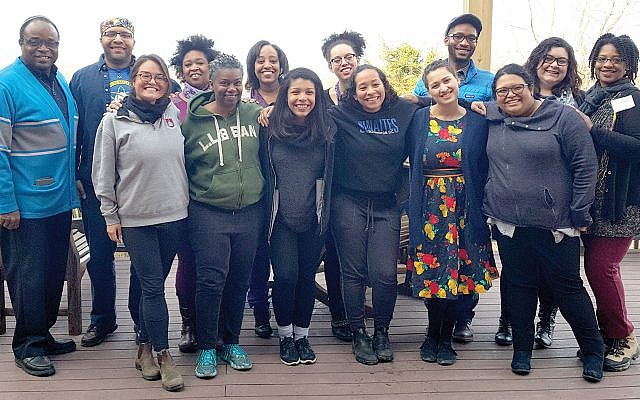 URJ JewV'Nation Fellowship's Jews of Color Leadership cohort. Aliza Greenberg for URJ