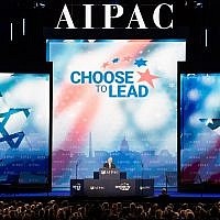 Sen. Robert Menendez speaks at the AIPAC conference at the Washington Convention Center, March 6, 2018. Getty Images