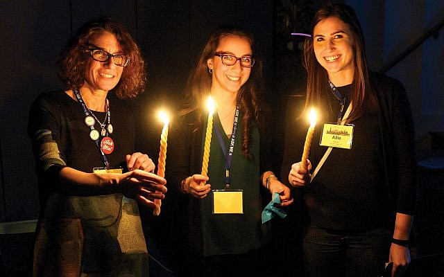 A Havdalah event at LimmudNY. About 1,000 people attended the three-day learning conference.