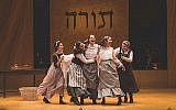 """Tevye's daughters sing """"Matchmaker"""" in the Yiddish """"Fiddler."""" Courtesy of Victor Nechay/ProperPix"""