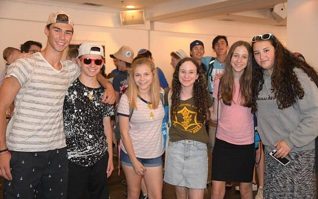 Teens at The Jewish Journey Fair 2018. Photo courtesy of NCSY.org
