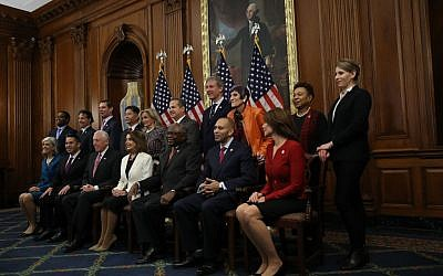 Illustrative photo: House Minority Leader Nancy Pelosi (C) (D-CA) and newly elected members of the House Democratic Leadership team pose for a formal portrait at the U.S. Capitol on November 30, 2018 in Washington, DC. Getty Images