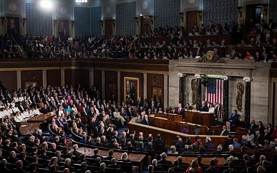 President Donald Trump delivers the State of the Union address in the chamber of the U.S. House of Representatives at the U.S. Capitol Building on February 5, 2019 in Washington, DC. Getty Images