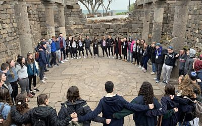 The Write On For Israel teens tour the Golan Heights during their trip to Israel earlier this year. Lily Weinberg/JW