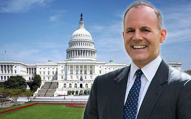 Elan Carr in his new post has met or planned meetings with predecessors from Republican and Democratic administrations. (Collage by Laura Adkins/JTA; Carr photo from Elan for Congress campaign: Capitol photo: Creative Commons/via JTA)