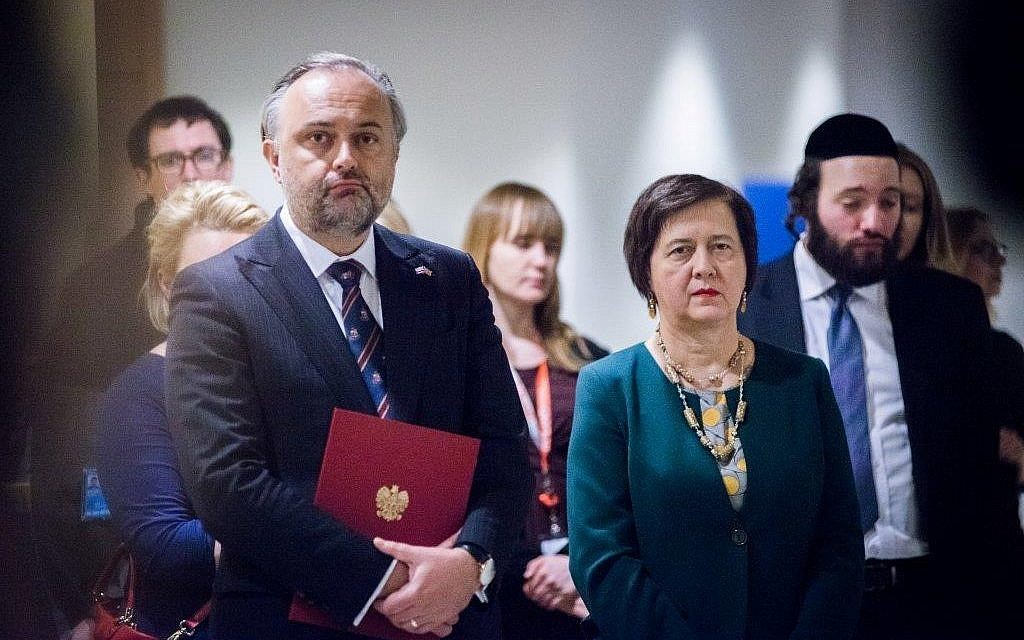 Polish Consul General Maciej Golubiewski and Polish UN Ambassador Joanna Wronecka at recent event at the United Nations. Courtesy of Polish Consulate