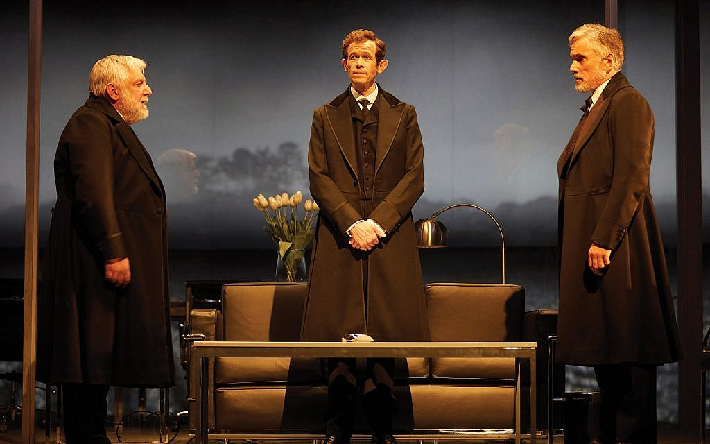 """Simon Russell Beale, Ben Miles and Adam Godley in the London production of Stefano Massini's """"The Lehman Trilogy,"""" directed by Sam Mendes. Photos by Mark Douet"""