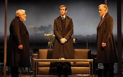 "Simon Russell Beale, Ben Miles and Adam Godley in the London production of Stefano Massini's ""The Lehman Trilogy,"" directed by Sam Mendes. Photos by Mark Douet"