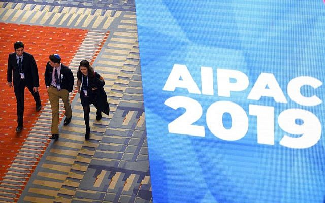 People attend the American Israel Public Affairs Committee (AIPAC) conference in Washington, DC on March 24, 2019. Getty Images