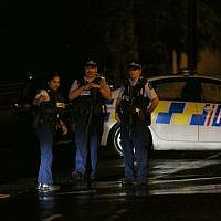 Police investigate a property at Somerville Street on March 15, 2019 in Dunedin, New Zealand. Residents have been evacuated off the street as police investigate a property believed to be related to the deadly terror attacks in Christchurch today. At least 49 people are confirmed dead, with more than 40 people injured following attacks on two mosques in Christchurch. 41 of the victims were killed at Al Noor mosque on Deans Avenue and seven died at Linwood mosque. Another victim died later in Christchurch hospital. Three people are in custody over the mass shootings. One man has been charged with murder. Getty Images