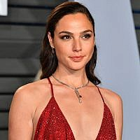 Gal Gadot at the 2018 Vanity Fair Oscar Party in Beverly Hills, Calif., March 4, 2018. (Dia Dipasupil/Getty Images/via JTA)