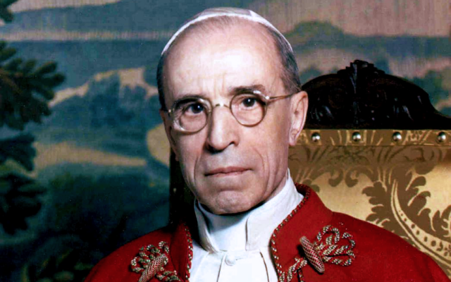 Critics accuse Pope Pius XII of having turned a blind eye to Jewish suffering during World War II. (Wikimedia Commons)