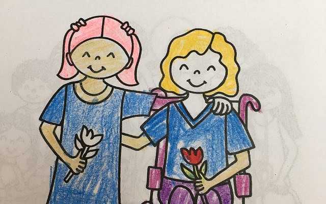 A coloring book created for JDAIM. Courtesy of Jewish learning Venture
