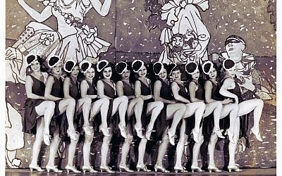 """A chorus line from """"Khoristkes,"""" a 1930s production by the iconic Yiddish actress Molly Picon. Courtesy of the YIVO Institute for Jewish Research."""