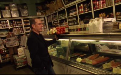 The new Vampire Weekend music video is super Jewish. Bagels, Zabars, Jerry Seinfeld, Jonah Hill, Ezra Koenig.... Here's a screengrab from the video. Youtube/Vampire Weekend