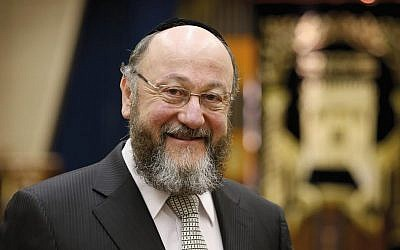 Following the Lord: British Chief Rabbi Ephraim Mirvis, who succeed Lord Jonathan Sacks in 2013, emphasizes the well-being of the British Jewish community but says anti-Semitism is a real problem. Getty Images