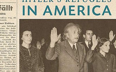 "Peter Schrag's ""The World of Aufbau"" tells the story of the German-language newspaper that was a lifeline for generations of Jewish refugees from Nazi Germany, and of Holocaust survivors, who made new lives for themselves in the U.S. Among them was Albert Einstein, pictured on the book's cover."